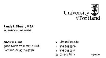 Randy l ulman mba supply chain management professional home university of portland business card colourmoves